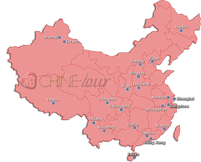 Carte China Map