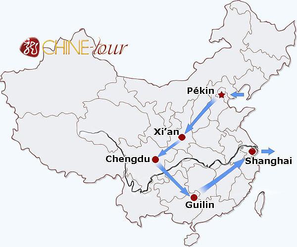 Carte Chine Voyage.Voyage Familial En Chine Tours Classiques Circuit En Chine